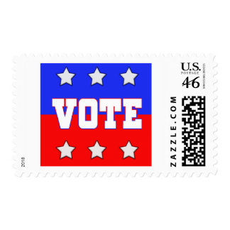 Vote with Stars Postage