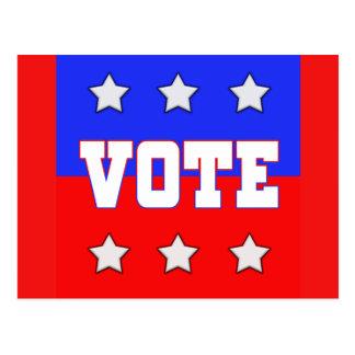 Vote with Stars Postcard