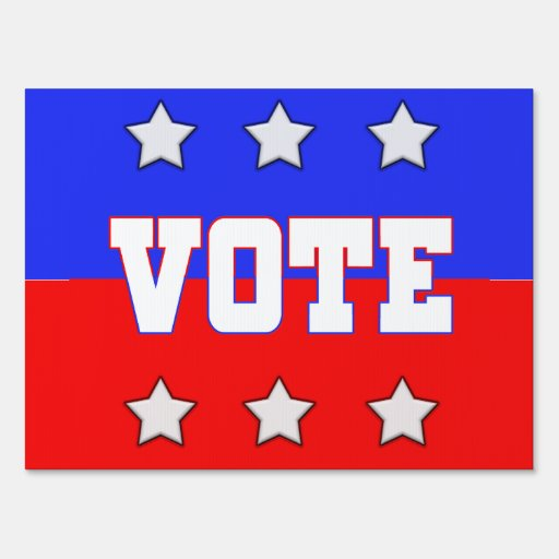 Vote with Stars Signs