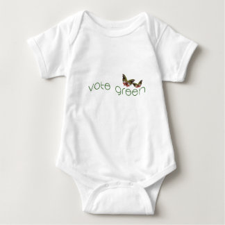 Vote with the Butterflies in 2016 - Green Logo Baby Bodysuit