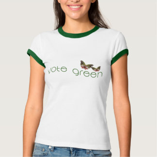 Vote with the Butterflies in 2016 - Green Logo T-Shirt