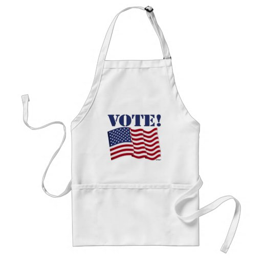 VOTE! with US Flag Aprons