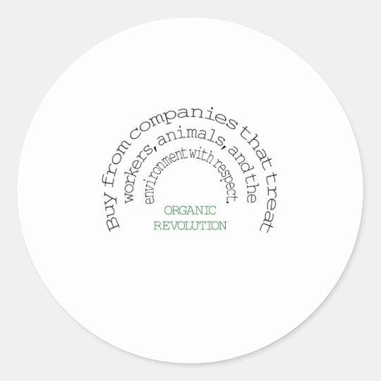 Vote With Your Dollar:  Organic Revolution Classic Round Sticker