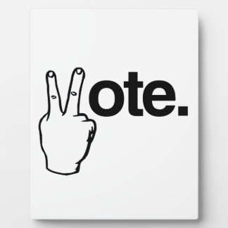 VOTE WITH YOUR FINGERS.png Plaques