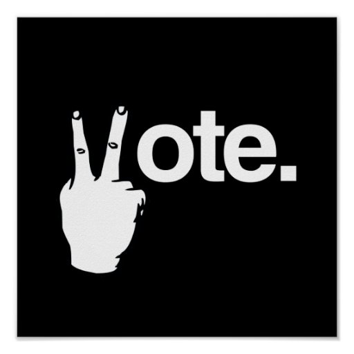 VOTE WITH YOUR FINGERS.png Posters