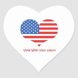 Vote with your Heart Stickers