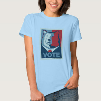 VOTE Womens Baby Doll T-shirt