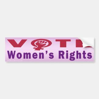 Vote Women's Rights 1 Bumper Sticker Car Bumper Sticker