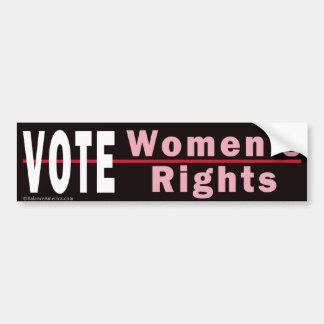 Vote Women's Rights 2 Bumper Sticker Car Bumper Sticker