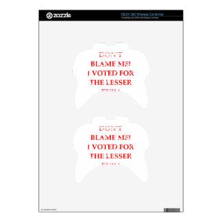 VOTE XBOX 360 CONTROLLER SKIN