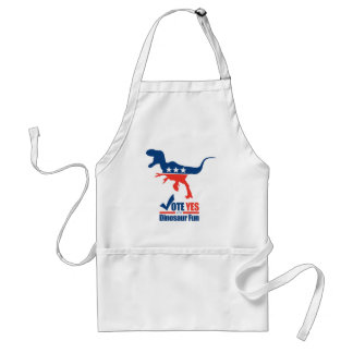 Vote Yes For Dinosaur Fun Adult Apron