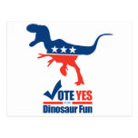 Vote Yes For Dinosaur Fun Postcards