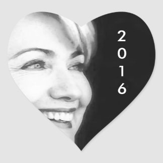 Vote Yes For Hillary in 2016 Heart Sticker