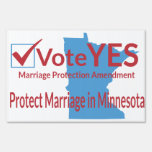 Vote Yes for Marriage Protection Amendment Signs