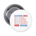 Vote yes for Obama Button
