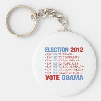 Vote yes for Obama Keychain