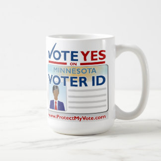 Vote Yes on Voter ID Classic White Coffee Mug