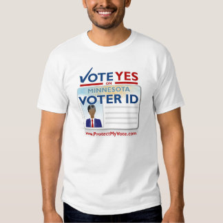 Vote Yes on Voter ID Tshirts