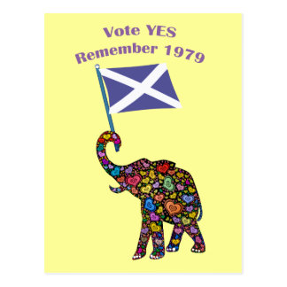 Vote Yes Scottish Independence 2014 Postcard