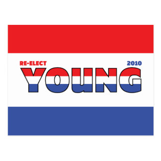 Vote Young 2010 Elections Red White and Blue Post Cards