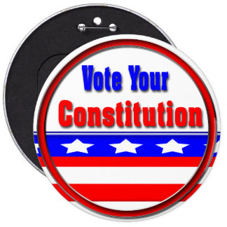 Vote Your Constitution Pinback Buttons
