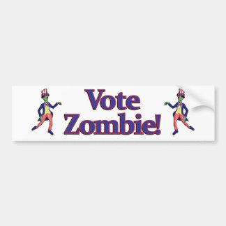 Vote Zombie Bumper Bumper Sticker