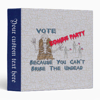 VOTE ZOMBIE PARTY 3 RING BINDER