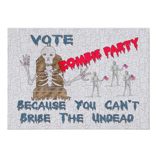 VOTE ZOMBIE PARTY CARD