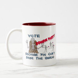 VOTE ZOMBIE PARTY COFFEE MUGS