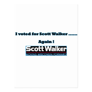 voted again postcard