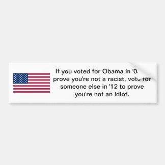 Voted for Obama Car Bumper Sticker
