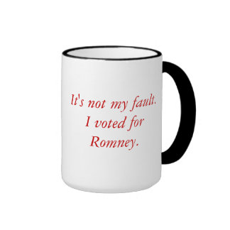 Voted for Romney Coffee Mug