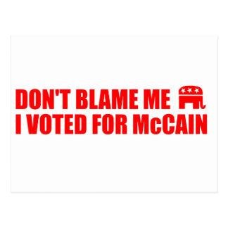 VOTED - MCCAIN POSTCARD