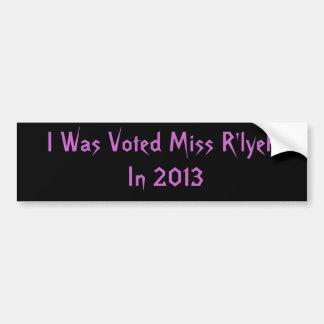 Voted Miss R'lyeh In 2013 Funny Bumper Sticker
