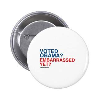 VOTED OBAMA EMBARRASSED YET 2 INCH ROUND BUTTON