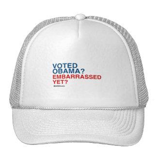 VOTED OBAMA EMBARRASSED YET TRUCKER HAT