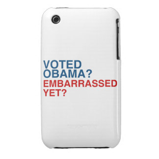 VOTED OBAMA? EMBARRASSED YET? iPhone 3 Case-Mate CASES