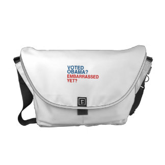 VOTED OBAMA? EMBARRASSED YET? MESSENGER BAGS