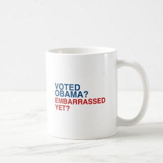 VOTED OBAMA? EMBARRASSED YET? MUGS