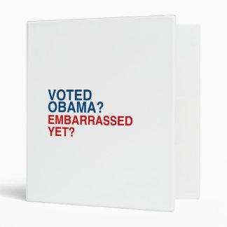 VOTED OBAMA EMBARRASSED YET png Vinyl Binders