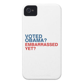 VOTED OBAMA EMBARRASSED YET.png iPhone 4 Case-Mate Cases