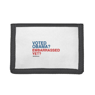 VOTED OBAMA EMBARRASSED YET TRI-FOLD WALLET