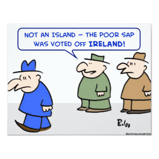 voted off ireland island card