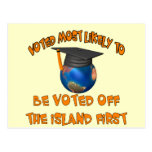 Voted Off The Island Postcard