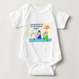 voter apathy increase who cares baby bodysuit