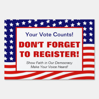 Voter registration gifts on zazzle voter registration drive political rally us flag sign sciox Choice Image