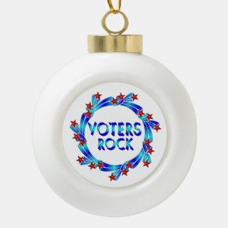 VOTERS ROCK CERAMIC BALL CHRISTMAS ORNAMENT