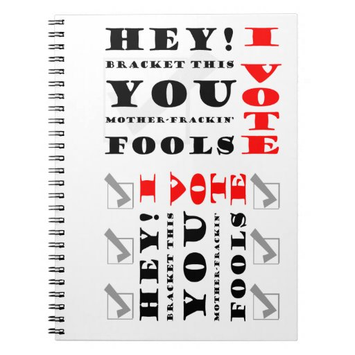Voters Rock Note Books