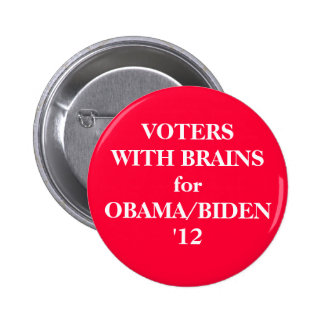 VOTERS WITH BRAINS  - button
