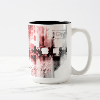 Votes for Her Black 15 oz Two-Tone Mug